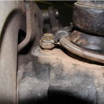 Clamp keeps line out of balljoints