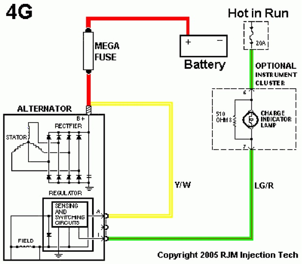 Fig_6A1 ford alternator wiring diagram on wiring diagram 2008 ford crown victoria