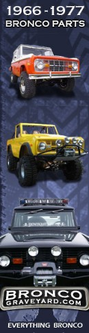 Ford Bronco Parts - Classic Vintage Early Bronco Parts