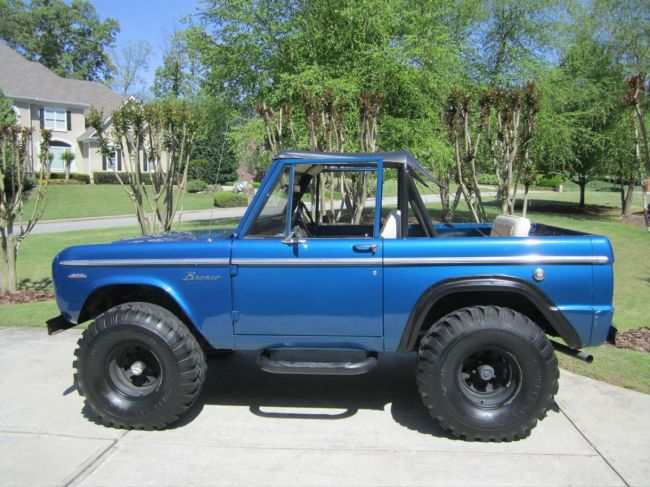 photo gallery 1968 ford bronco for sale side view early bronco pictures. Black Bedroom Furniture Sets. Home Design Ideas